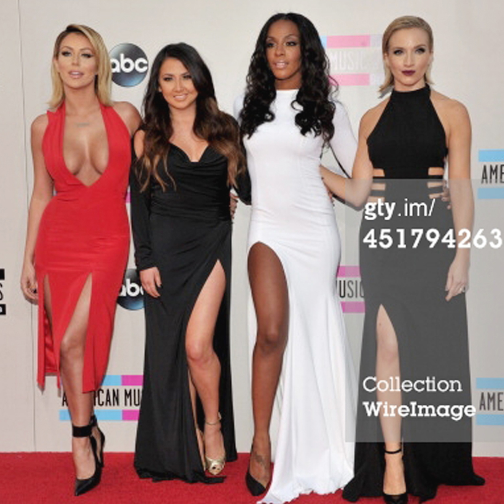 Andrea Fimbres of danity kane in our divine dress for the red carpet of american music awards