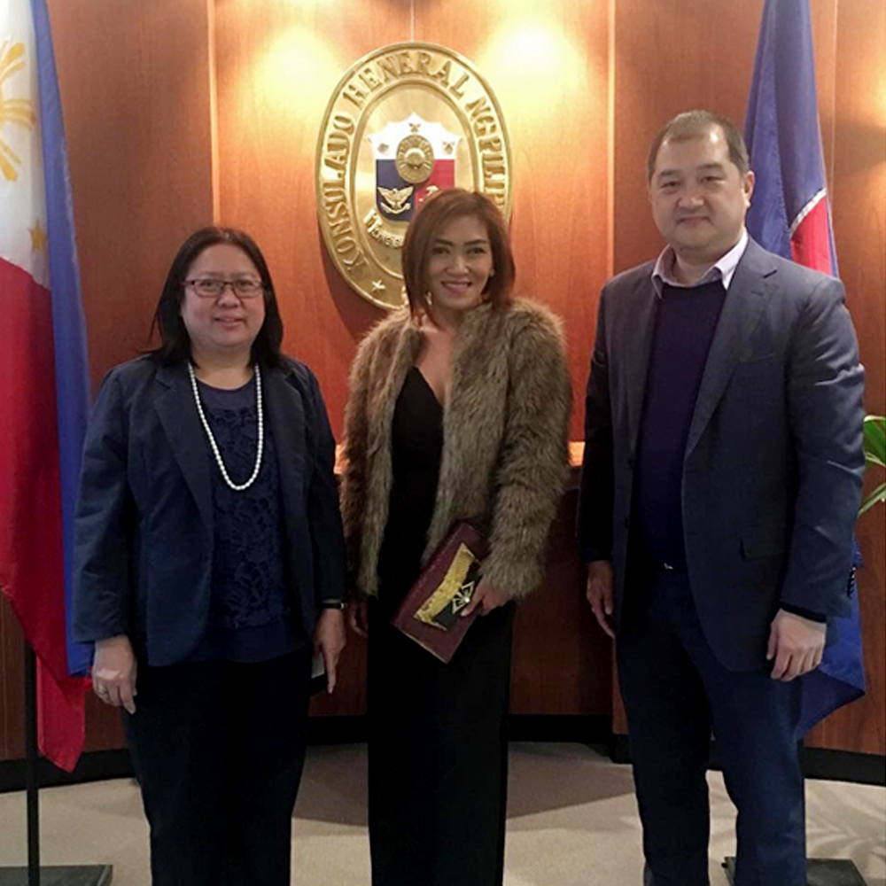 Courtesy call at the Philippine Consulate in Sydney with Congen Anne Jalando-on Louis and Commercial Consul Kenneth Yap