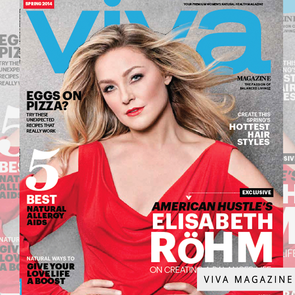 Elizabeth Rohmin our Divine long dress on the cover of Viva magazine
