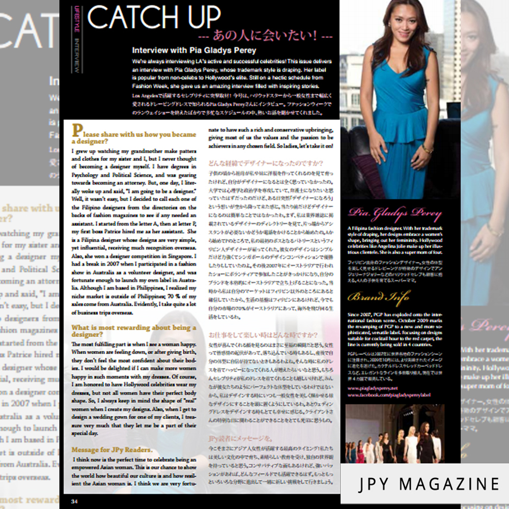 Jpy Magazine Feature